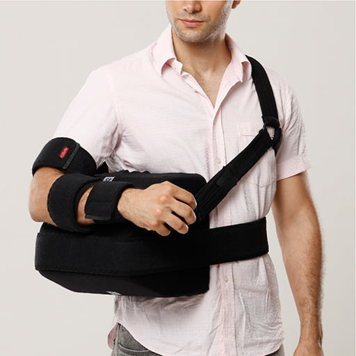Arm sling with sponge support